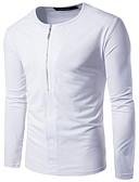 preiswerte Herren Pullover-Herrn Solide Baumwolle T-shirt, Rundhalsausschnitt