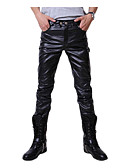 cheap Men's Pants & Shorts-Men's Punk & Gothic Slim Skinny / Slim Pants - Solid Colored Gold / Work / Club / Weekend