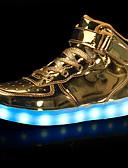 זול סטים של ביגוד לבנות-בנים נעליים דמוי עור סתיו / חורף נוחות / נעליים זוהרות נעלי ספורט הליכה וו ולולאה / LED ל שחור / כסף / אדום / גומי