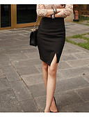 cheap Women's Skirts-Women's Going out Street chic Bodycon Skirts - Solid Colored / Slim