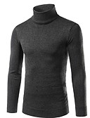 cheap Men's Sweaters & Cardigans-Men's Weekend Street chic Long Sleeve Slim Pullover - Solid Colored Turtleneck