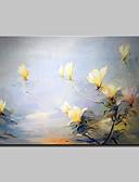 billige Sykkeljerseys-Hang malte oljemaleri Håndmalte - Blomstret / Botanisk Abstrakt / Moderne Lerret