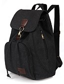 cheap Mother of the Bride Dresses-Women's Bags Canvas Backpack for Outdoor / Traveling Blue / Black / Coffee