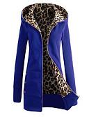 tanie Damskie bluzy z kapturem-Damskie Moda miejska Bawełna Spodnie - Solidne kolory Niebieski / Zima / Długie / Wyjściowe / Cienkie paski