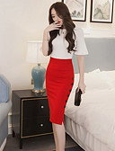 cheap Women's Skirts-Women's Work Bodycon Skirts - Solid Colored