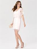 preiswerte Cocktailkleider-Eng anliegend V-Ausschnitt Kurz / Mini Spitze Cocktailparty Kleid mit Paillette durch TS Couture®