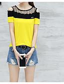 preiswerte Cocktailkleider-Damen Solide Baumwolle T-shirt