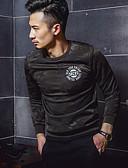 cheap Men's Hoodies & Sweatshirts-Men's Sports Long Sleeve Sweatshirt Print Round Neck Black L / Spring / Fall