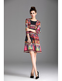 cheap Women's Dresses-ZIYI Women's Sheath Dress - Solid Colored Print