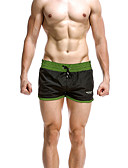 cheap Men's Swimwear-Men's Black Gray Army Green Swim Trunk Bottoms Swimwear - Color Block M L XL