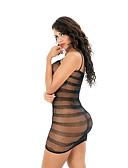 cheap Women's Nightwear-Women's Teddy Nightwear - Mesh, Solid Colored