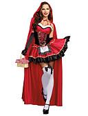 זול שמלות מקסי-כיפה אדומה תחפושות קוספליי נשף מסכות נקבה האלווין (ליל כל הקדושים) קרנבל פסטיבל / חג תחפושות ליל כל הקדושים אדום אחרים וינטאג'