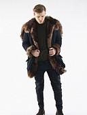 cheap Men's Jackets & Coats-Men's Work Long Loose Fur Coat - Solid Colored