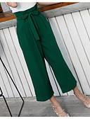 זול מכנסיים לנשים-בגדי ריקוד נשים משוחרר רגל רחבה מכנסיים אחיד