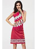 preiswerte Damen Kleider-Damen Hülle Kleid - Druck Übers Knie