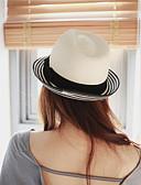 baratos Vestidos de Mulher-Mulheres Chapéu / Férias De Palha / Chapéu de sol - Laço / Côr Pura Sólido
