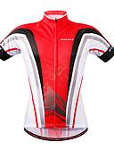 ieftine Rochii de Banchet-WOSAWE Manșon scurt Jerseu Cycling - Roșu negru Bicicletă Jerseu, Uscare rapidă Poliester