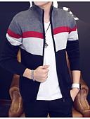 cheap Men's Sweaters & Cardigans-Men's Long Sleeve Cardigan - Striped