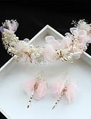 olcso Menyasszonyi fátyol-Tüll / Sifon / Csipke Virágok / Hair Clip val vel 1 Esküvő / Különleges alkalom / Születésnap Sisak
