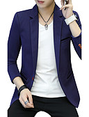 cheap Dress Watches-Men's Street chic Blazer - Solid Colored