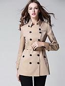 preiswerte Mantel & Trenchcoat-Damen - Solide Trench Coat, Hemdkragen