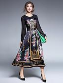 preiswerte Damen Kleider-Damen Ausgehen Retro / Street Schick / Anspruchsvoll A-Linie Kleid Patchwork Midi