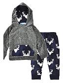 رخيصةأون ملابس الفتيات-مجموعة ملابس قطن كم طويل حيوان / موضة طباعة حيوانات صبيان طفل / طفل صغير