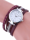 cheap Quartz Watches-Women's Bracelet Watch Chinese Imitation Diamond PU Band Charm / Casual / Fashion Black / Red / Brown / One Year / TY 377A