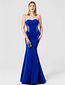 cheap Wedding Dresses-Mermaid / Trumpet Sweetheart Neckline Floor Length Spandex Cocktail Party / Prom / Formal Evening Dress with Crystals by TS Couture®