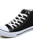 abordables Pantalones para Mujer-Mujer Zapatos Tela Primavera / Otoño Suelas con luz Zapatillas de deporte Tacón Plano Dedo redondo Recogido Negro / Rojo / Azul