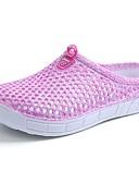 baratos Lingerie Feminina-Mulheres Sapatos Tecido Verão / Outono Conforto Sandálias Caminhada Sem Salto Ponta Redonda Cadarço Roxo / Azul / Rosa claro
