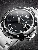 preiswerte Edelstahl-Herrn Armbanduhr Chronograph / Wasserdicht Edelstahl Band Luxus Silber