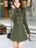 cheap Women's Coats & Trench Coats-Women's Work Going out Coat - Solid Colored Stand