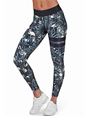 cheap Leggings-Women's Daily Wear Print Legging - Color Block High Waist / Spring / Fall / Seamless Panties / Sporty Look / Skinny