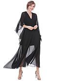cheap Men's Hoodies & Sweatshirts-Women's Street chic Batwing Sleeve Sheath Swing Dress - Solid Colored High Rise Maxi V Neck
