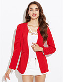 cheap Women's Blazers-Women's Suits - Solid Colored Shirt Collar