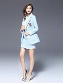 preiswerte Damen Kleider-Damen - Solide Niedlich Arbeit Anzüge, V-Ausschnitt Pailletten