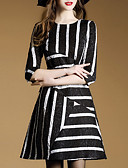 رخيصةأون تنانير نسائية-فستان نسائي عصري فوق الركبة مخطط