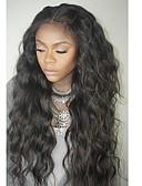 hesapli Gece Elbiseleri-Gerçek Saç Ön Dantel Peruk Düz Brezilya Saçı Dalgalı Peruk Katmanlı Saç Kesimi Bebek Saçlarıyla % 130 Saç yoğunluğu Doğal saç çizgisi Siyahi Kadınlar İçin 100% bakire Kadın's Şort Orta Uzun Gerçek