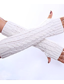 cheap Men's Ties & Bow Ties-Women's Winter Gloves Elbow Length Half Finger Gloves - Solid Colored