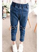 preiswerte Hosen & Leggings für Mädchen-Mädchen Jeans Stickerei Baumwolle Frühling Blau