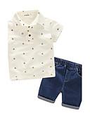 tanie Zestawy ubrań dla chłopców-Dzieci Dla chłopców Nadruk Krótki rękaw Bawełna Komplet odzieży