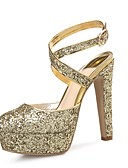 ieftine Rochii de Seară-Pentru femei Pantofi Sclipici Spumant / Paillertte / Microfibră PU sintetică Primăvară / Toamnă Pantof cu Berete Tocuri Toc Stilat Vârf