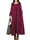 baratos Vestidos de Mulher-Mulheres Trabalho Solto Kaftan Vestido Sólido Longo