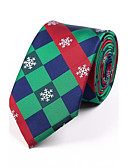 cheap Men's Ties & Bow Ties-Men's Grid Necktie - Jacquard