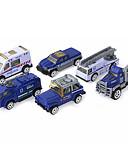 رخيصةأون ساعات رجالية-سيارة الشرطة لعبة الشاحنات ومركبات البناء لعبة سيارات 1:64 للأطفال صبيان فتيات ألعاب هدية