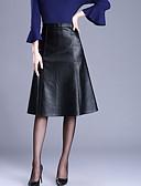 olcso Női nadrágok és szoknyák-Női Extra méret A-vonalú Szoknyák - Egyszínű