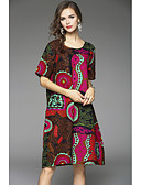 cheap Women's Dresses-Women's Chinoiserie Loose Dress - Geometric