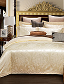 preiswerte Bluse-Bettbezug-Sets Blumen 4 Stück lyocell Baumwolle Reaktivdruck lyocell Baumwolle 4-teilig (1 Bettbezug, 1 Bettlaken, 2 Kissenbezüge)