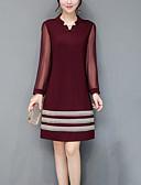 baratos Vestidos de Mulher-Mulheres Tamanhos Grandes Para Noite Moda de Rua Delgado Bainha Vestido Sólido Decote V Altura dos Joelhos